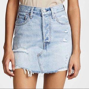 BRAND NEW Levi's Premium Light Wash Skirt